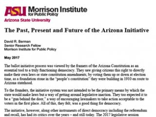 The Past, Present and Future of the Arizona Initiative