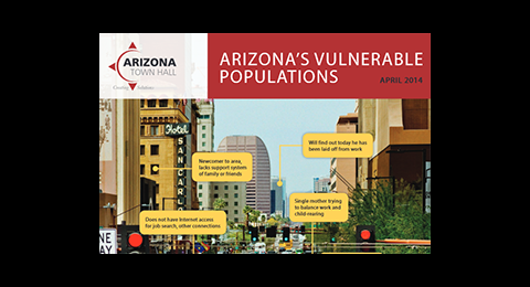 Cover of Arizona's Vulnerable Populations report