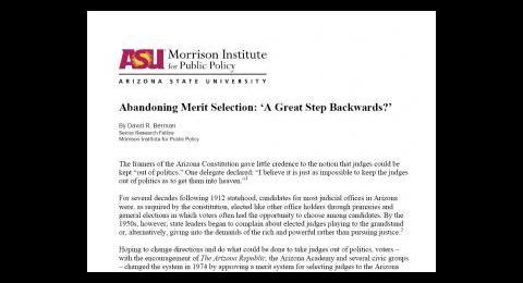 Abandoning Merit Selection