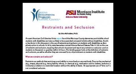 Restraints and Seclusion