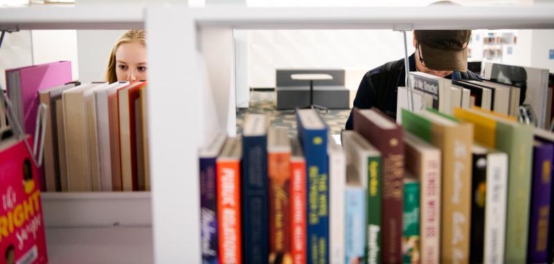 Books at Hayden Library at ASU